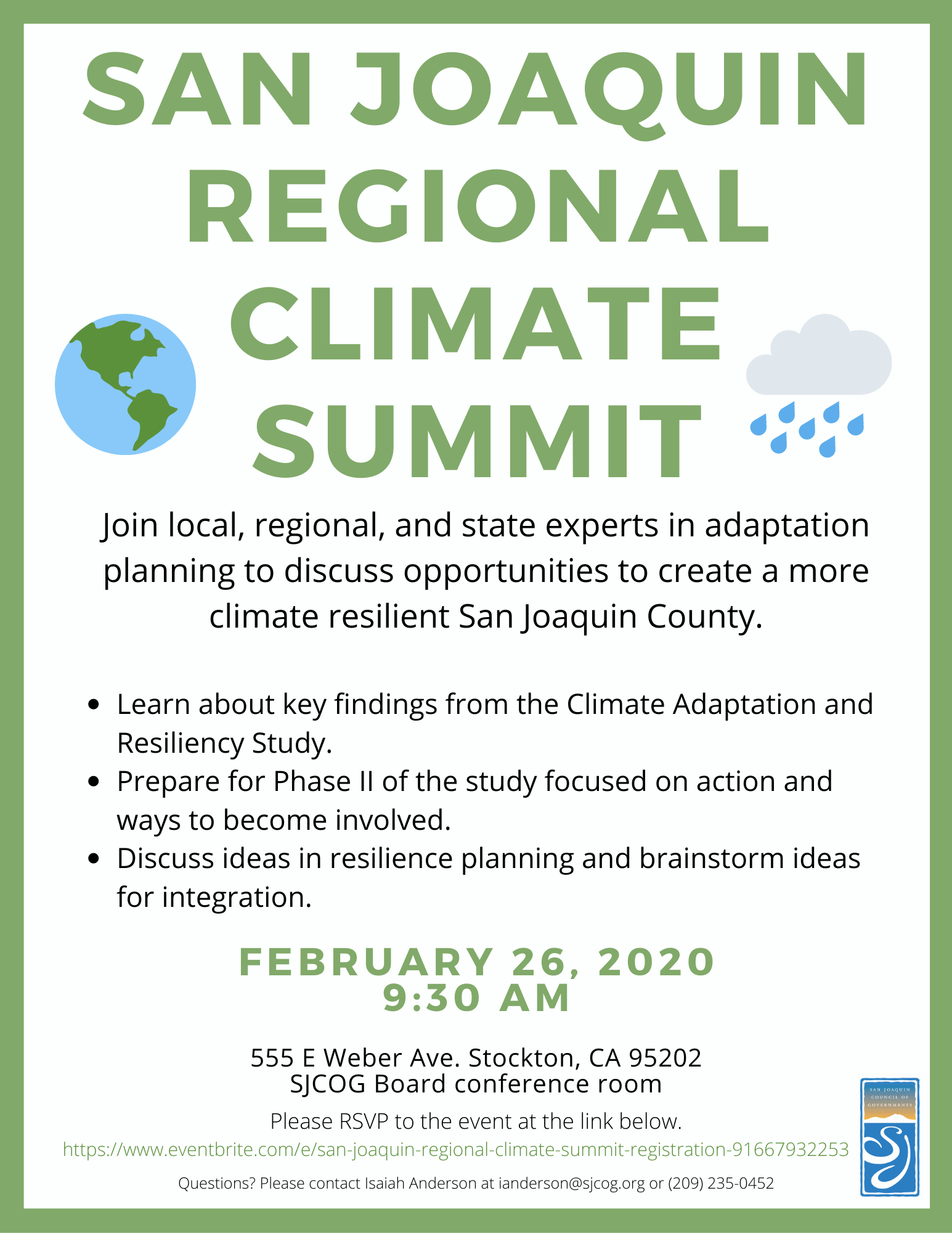climate summit flyer