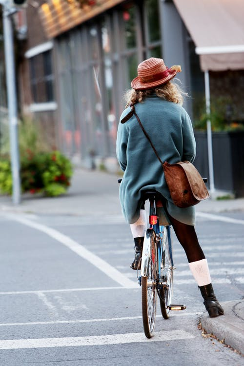 Image of cyclist in urban setting