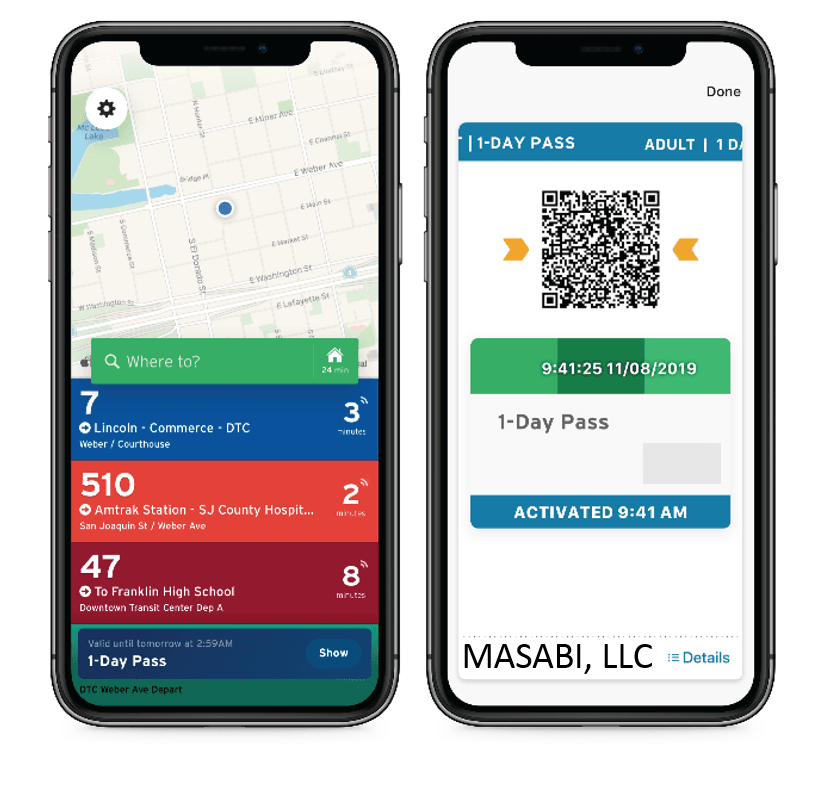 Masabi Mobile App Demo Picture
