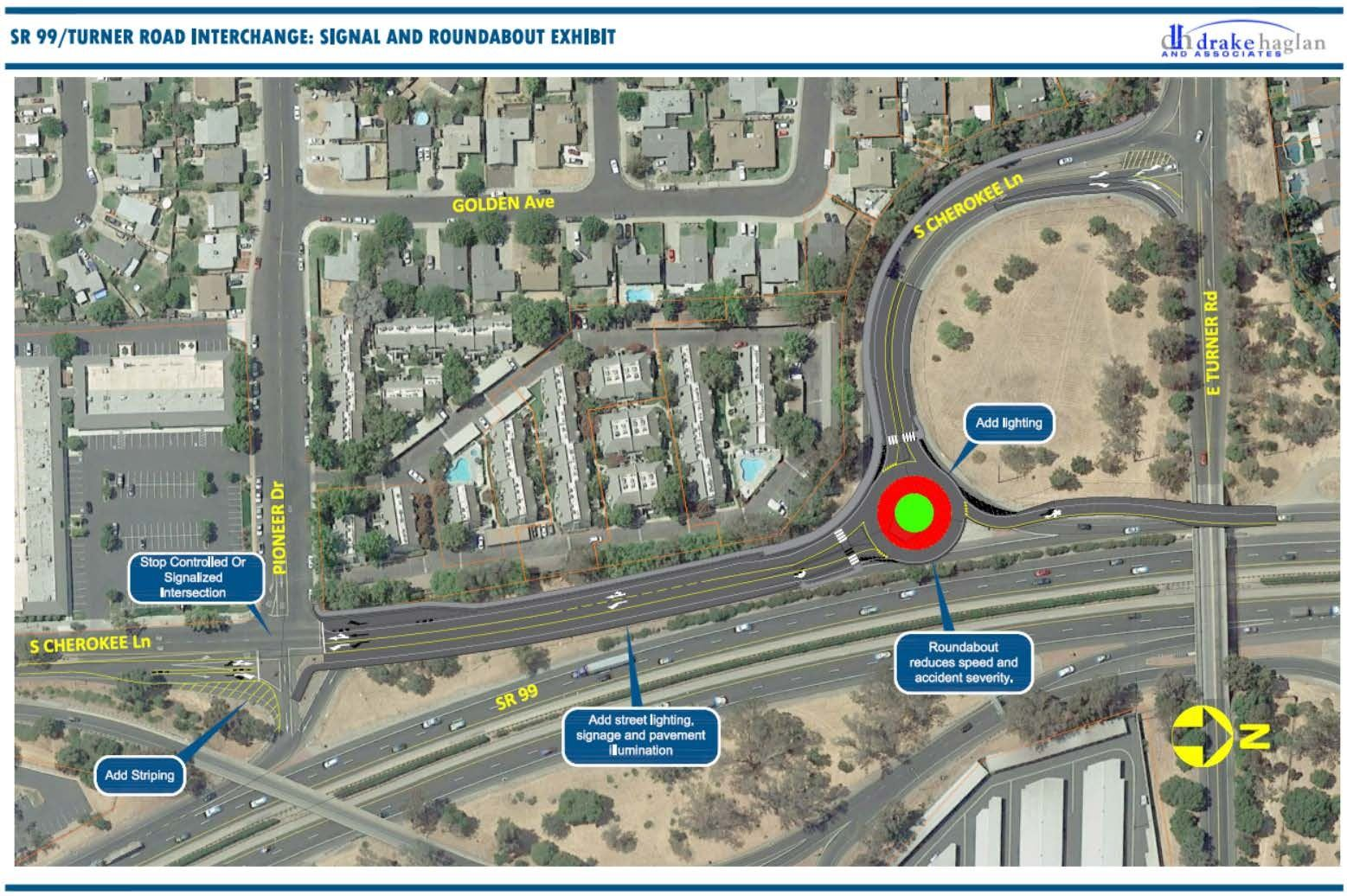 State Route (SR) 99/Turner Road Interchange   Improvement Project Map